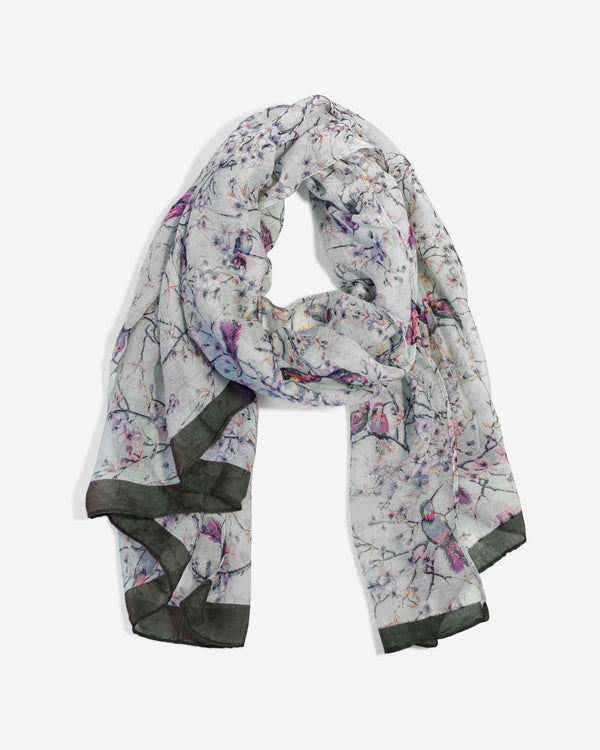 Brushstroke Bird Scarf - Fashion Off The Rack