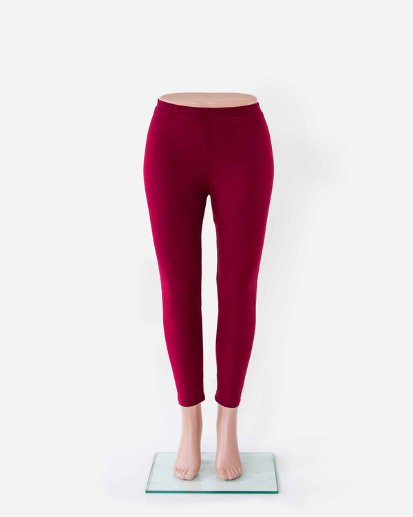 Buttery Soft Red High-Waisted Legging - Fashion Off The Rack