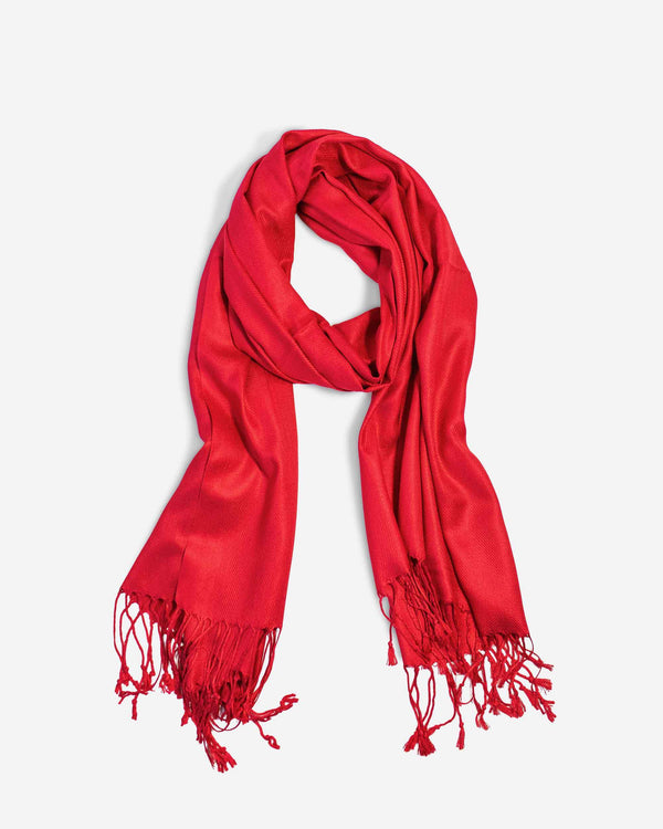 Ruby Red Pashmina Scarf - Fashion Off The Rack