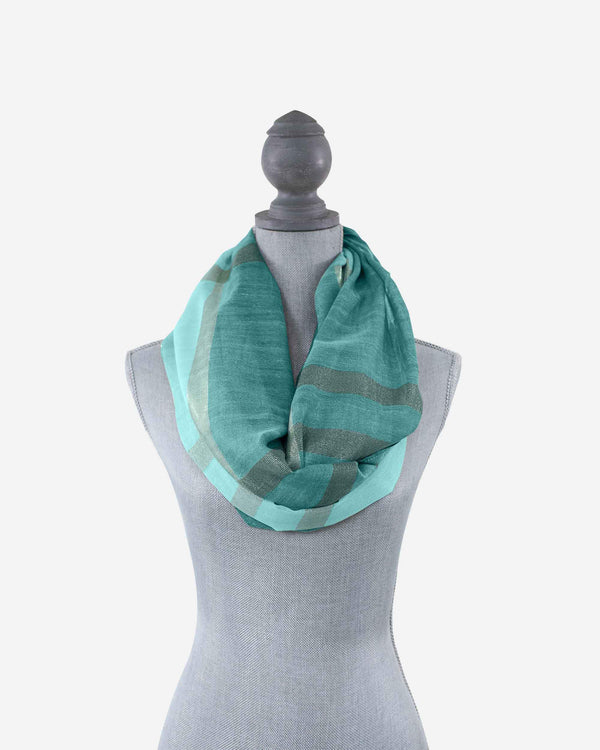 Seaside Stripe Infinity Scarf - Fashion Off The Rack
