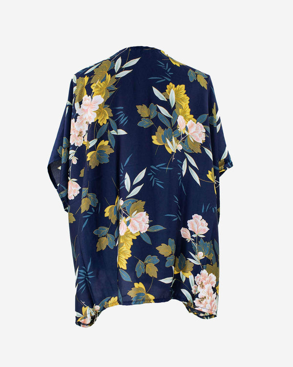 Full Bloom Midnight Floral Kimono - Fashion Off The Rack