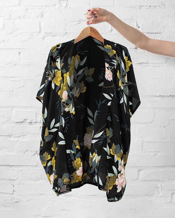 Classic Floral Kimono Wrap - Fashion Off The Rack