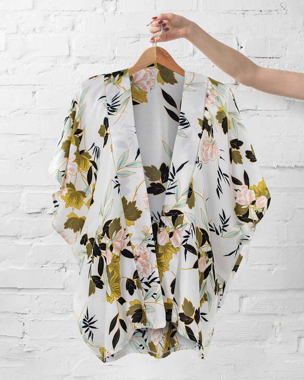 Vintage Floral Kimono Wrap - Fashion Off The Rack