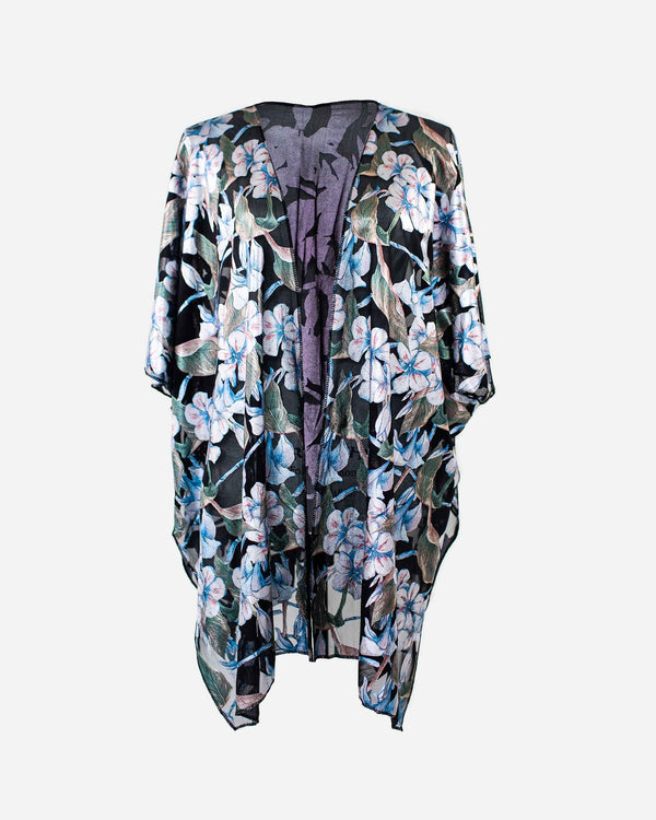 Luxe Floral Burnout Kimono - Fashion Off The Rack