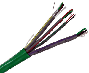 Access Control Composite Cable - Riser -  CMR/CL2R - 18/4 AWG + 22/4 AWG + 22/2 AWG + 22/3 AWG Pair Shielded, 500 Ft & 1000 Ft