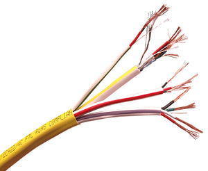 Access Control Composite Cable - Plenum - CMP/CL2P, (18/4 AWG + 22/4 AWG + 22/2 AWG + 22/3 AWG Shielded), 500 Ft & 1000 Ft