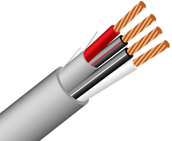 Communication & Control Cable (CMP) 22/2 (7 Strand) 1 Pair Shielded / 1 Pair Unshielded 1000' Gray