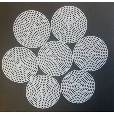 "3"" Round Plastic Canvas"