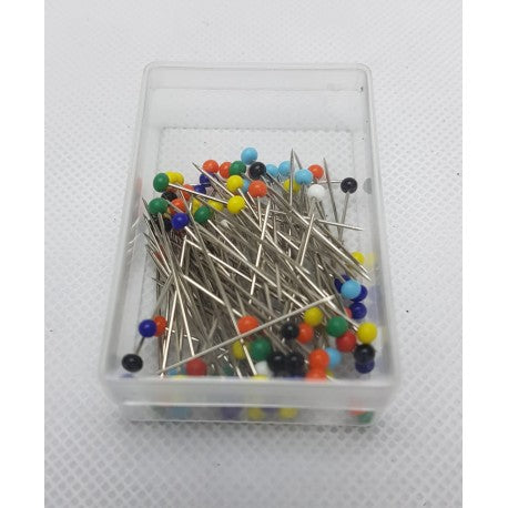 32mm Glass Headed Steel Pins