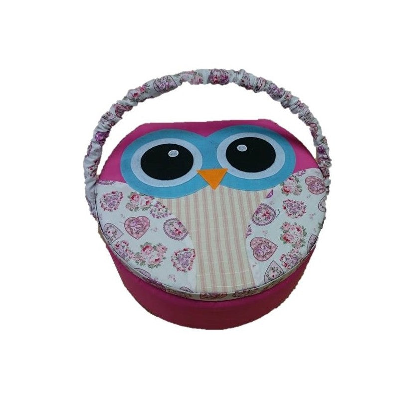 Pink Owl Sewing Box
