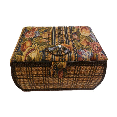 Tapestry Curved Sewing Box