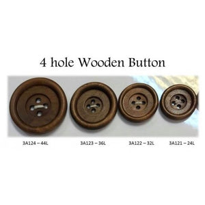 Wood 4 Hole Buttons