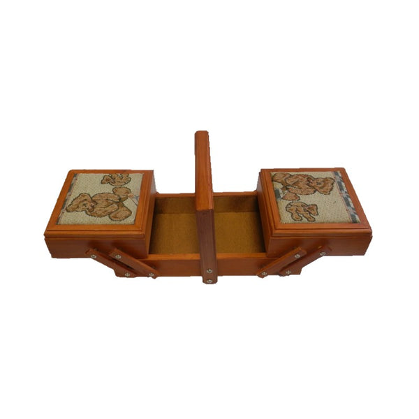 Wood 2 Tier Sewing Box