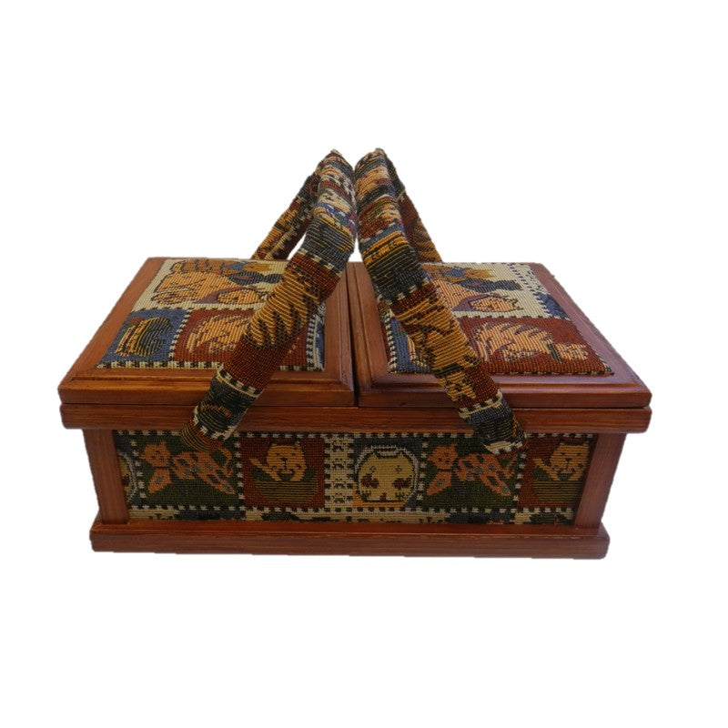 Wood Sewing Box