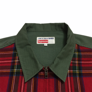 2015 Supreme x COMMEdesGARÇONS Olive Red Plaid Vest
