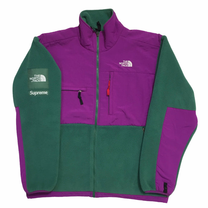 2008 Supreme x The North Face Green Magenta Denali Fleece