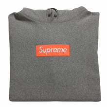 Load image into Gallery viewer, 2017 Supreme Orange Grey Box Logo Hoodie