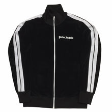 Load image into Gallery viewer, Palm Angels Black Velour Track Top