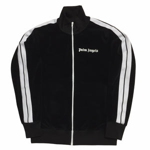 Palm Angels Black Velour Track Top