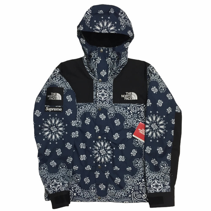 2014 Supreme x The North Face Navy Bandana Mountain Light