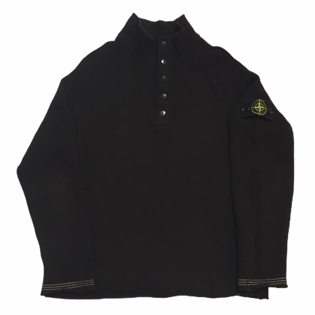 Stone Island Brown 1/4 Button Up
