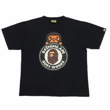 Load image into Gallery viewer, BAPE Baby Milo Busy Works Black Tee