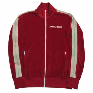Palm Angels Red Velvet Track Top
