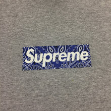 Load image into Gallery viewer, 2019 Supreme Grey Purple Paisley Box Logo Tee