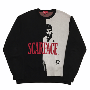 2017 Supreme Scarface Knit Crewneck
