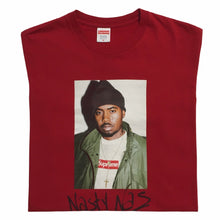 Load image into Gallery viewer, 2017 Supreme Nas Red Photo Tee