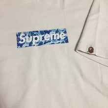 Load image into Gallery viewer, 1998 Supreme BAPE Blue Camo Box Logo Tee