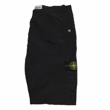 Load image into Gallery viewer, 2016 Supreme x Stone Island Black Nylon Metal Trackpants