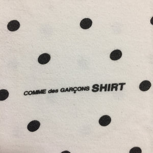 2012 Supreme x COMMEdesGARÇONS White Polka Dot Box Logo Tee