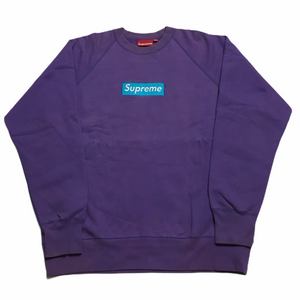 2006 Supreme Purple Teal Box Logo Crewneck