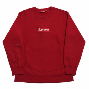2015 Supreme Red Box Logo Crewneck