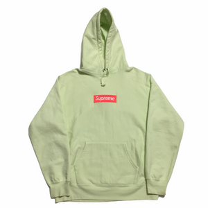 2017 Supreme Lime Orange Box Logo Hoodie