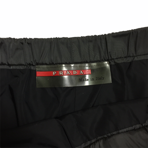 1999 Prada Vintage Grey Nylon Trackpants