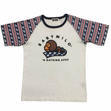 Load image into Gallery viewer, BAPE Baby Milo Coloured Sleeves Tee