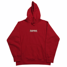 Load image into Gallery viewer, 2019 Supreme Red Bandana Box Logo Hoodie