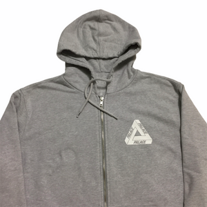 Palace Grey Tri Feng Logo Thermal Zip Up Logo