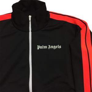 Palm Angels Neon Orange Black Track Top