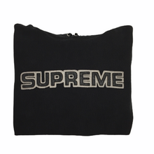 Load image into Gallery viewer, 2018 Supreme Black Leather Logo Hoodie