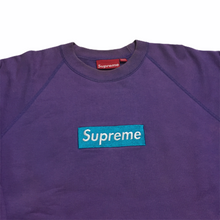 Load image into Gallery viewer, 2006 Supreme Purple Teal Box Logo Crewneck