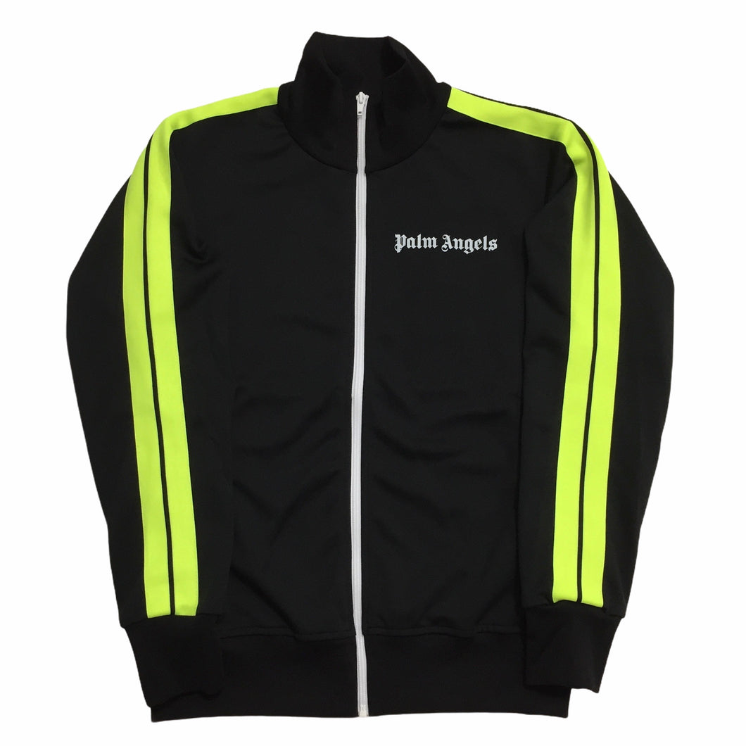 Palm Angels Neon Yellow Black Track Top