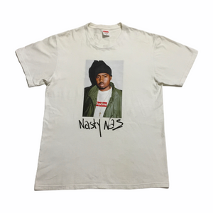 2017 Supreme Nas White Photo Tee