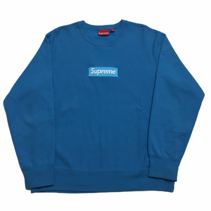2018 Supreme Royal Blue Box Logo Crewneck