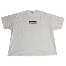 Load image into Gallery viewer, 2012 Supreme Unreleased Purple Three 6 Mafia Box Logo Tee