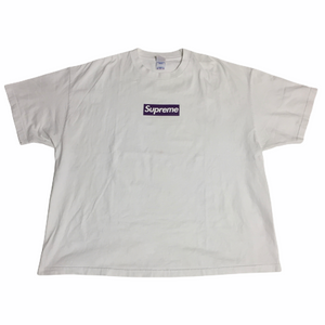 2012 Supreme Unreleased Purple Three 6 Mafia Box Logo Tee