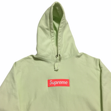 Load image into Gallery viewer, 2017 Supreme Lime Orange Box Logo Hoodie