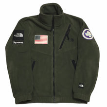 Load image into Gallery viewer, 2017 Supreme x The North Face Olive Antartica Fleece